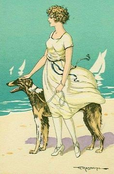 Vintage Postcard by Meschini