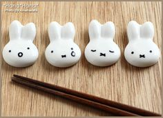 Chopstick Rest, Egg Holder, Miffy, Cute Designs, Tea Pots, Polymer Clay, Diy And Crafts, Candle Holders, Pottery