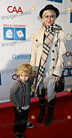 Photos and Pictures - In a trendy trench coat, Burberry scarf and fedora Ashlee Simpson and son Bronx Wentz attend the 2nd Annual Milk and Bookies Story Time Celebration held at the Skirball Cultural Center. Los Angeles, CA. 03/20/11.