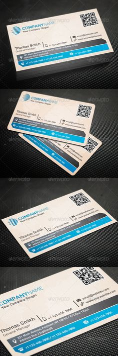 "Corporate Business Card #GraphicRiver Features: › Single-sided › Horizontal Business Card › Rounded Corners (0.125"") + Square Corners › CMYK Color Mode › 300 DPI High Resolution › Easy to customize color & edit text › 3.5"" x 2"" (3.75"" x 2.25"" with bleeds) › Print ready › QR code All layers can be changed, you can replace all the information on the business card in easy way with just a few clicks. Font: Diavlo Titillium Text Please don't forget to rate this item. ..."