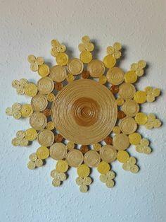 ADORNO DE PARED EN PAPEL DE PERIÓDICO. IDEA BY PINTEREST.