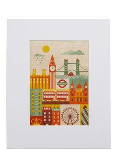 London landmark art by Modcloth