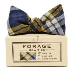 FORAGE bow ties hand crafted in Brooklyn NY
