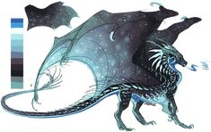 Necrosis ref by linsaangs on DeviantArt Cute Fantasy Creatures, Mythical Creatures Art, Mythological Creatures, Magical Creatures, Wings Of Fire Dragons, Cool Dragons, Creature Concept Art, Creature Design, Creature Drawings