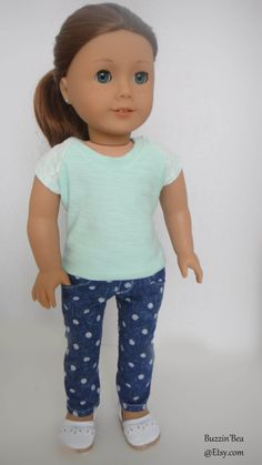 Polka Dot Skinny Pants - American Girl Doll Clothes