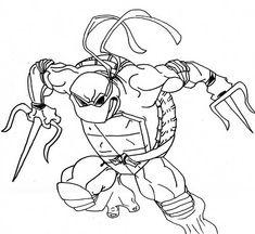 30 Desenhos das Tartarugas Ninja para Pintar/Colorir