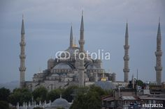 The Bue Mosque, evening in Istanbul, Turkey