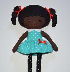 Rag Doll Pattern Fabric Doll Black Doll PDF by rainbowrosedollco, $12.00