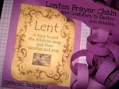 Lenten Prayer Chain / Countdown Plus, More Activities and a Link-up - Catholic Inspired Catholic Lent, Catholic Crafts, Catholic Beliefs, Easter Activities, Craft Activities, Prayer Chain, Lent Prayers, Teaching Religion, Liturgical Seasons