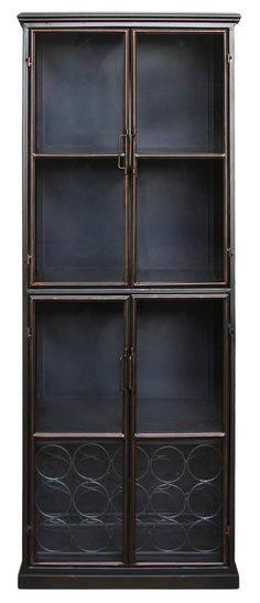 Moe's Home Collection Lazarus Display Cabinet China Cabinets And Hutches, Moe's Home Collection, Accent Furniture, Home Collections, Bookcase, Display, Den, Living Room, Home Decor