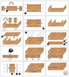 DIY building instructions - the clever and inexpensive camping box for DIY Bauanleitung – Die clevere und preiswerte Campingbox zum Stecken! DIY building instructions – the clever and inexpensive camping box to plug in! Minivan Camping, Trailers Camping, Truck Camping, Camping Hacks, Mini Camper, Bus Camper, Minivan Camper Conversion, Kangoo Camper, Monospace