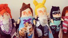 Mandarinas de tela: Little dolls video
