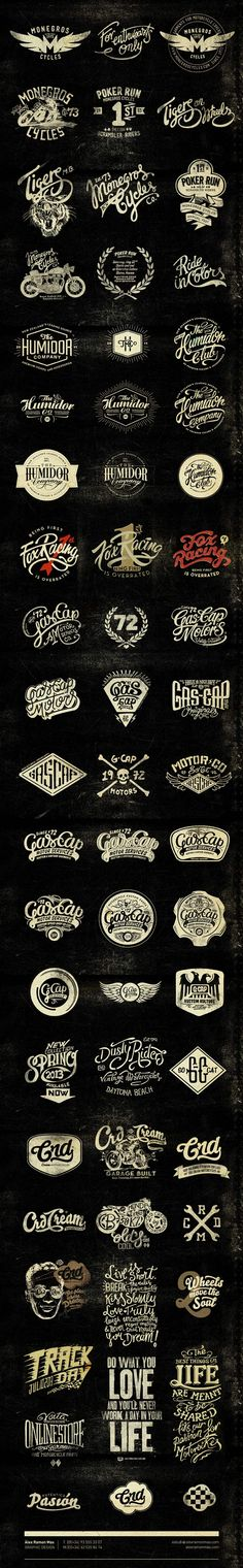 "Beautiful ""vintage"" typography from Alex Ramon Mas Designs - Alex Ramon Mas Studio"