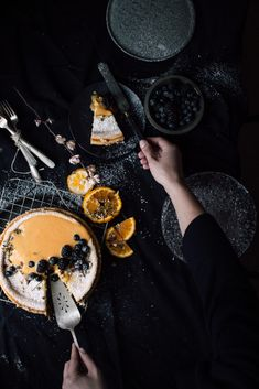 Classic Cheesecake with Hazelnut, Citrus Topping - Christiann Koepke - Delicious Cake Recipes, Yummy Cakes, Yummy Food, Dark Food Photography, Classic Cheesecake, Cheesecake Recipes, Homemade Cheesecake, Unique Recipes, Creative Food