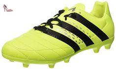 adidas X 15.3 in Leather, Chaussures de Football Entrainement Homme, Multicolore (Core Black/Shock Pink/Shock Mint), 46 EU