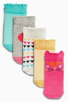 Acheter Cinq Paquet vives Chaussettes (0-18mths) à partir de la boutique en ligne Next Royaume-Uni