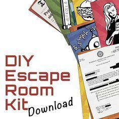 your home into a real life escape game! Transform your house into a real life escape room for your mates! The printable pack has all you need!Transform your house into a real life escape room for your mates! The printable pack has all you need! Room Escape Games, Escape Room Diy, Escape Space, Escape Room For Kids, Escape Room Puzzles, Real Escape Room, Breakout Edu, Breakout Boxes, Escape The Classroom