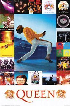 Queen - Album Covers art print