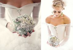 Brooch bouquet flowers