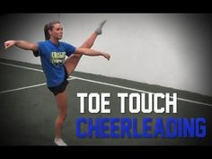 How to do a cheerleading toe touch - YouTube