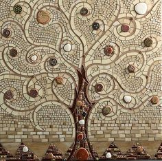 Tile and stone...a Tree.