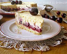 Arome si culori : Tarta cu cirese si crema de branza Romanian Desserts, Romanian Food, My Recipes, Cooking Recipes, Cake Videos, No Cook Desserts, Sweet Tarts, Something Sweet, Cakes And More