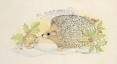 Mr. Hedgehog meets Mr. Mouse in the Snow by Mike Alexander