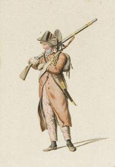 August Christian Hauck: French Infantryman in Holland, late 1794