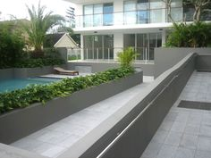 Granite floor tiles & pavers in a speckled light, silver grey colour with a flamed finish are safe and durable outdoor paving products Grey Flooring, Granite Flooring, Granite Tile, House Color Schemes, Outdoor Living, Garden Beds, Granite Floor Tiles, Grey Granite, House Colors