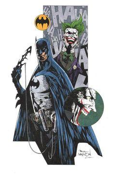 Batman and Joker by Paul Davidson