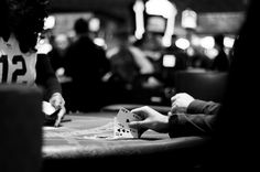 Blackjack! - A lucky player about to win in blackjack game in Westgate casino, Las Vegas