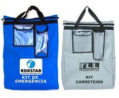 Bolsa Kit Carreteiro personalizada, com quadro de identificação, porta  lanterna, fechamento em zíper 4c49b01d86