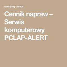 Cennik napraw – Serwis komputerowy PCLAP-ALERT