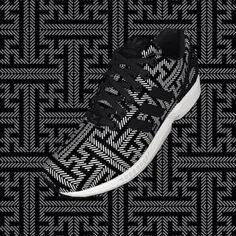 Adidas Trainers in Sayagata pattern (custom design)