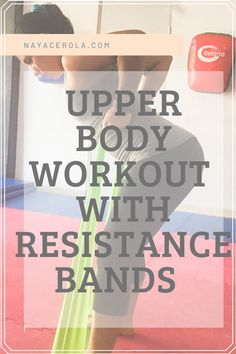upper body workout with resistance bands you can do at home! easy, great for beginners Arm Workouts At Home, Beginner Workout At Home, Body Workout At Home, Workout For Beginners, Fitness Exercises, Fitness Tips, Top Blogs, Resistance Bands, Upper Body