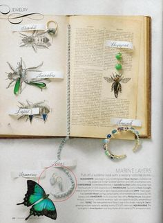 """Organic Chemistry"" - #AnneSportun Oval Aqua Earrings as seen in the Spring 2013 Issue of @Martha Stewart Weddings Magazine"