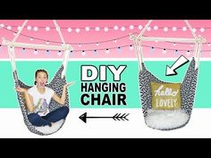 Make a Hammock Chair, DIY and Crafts, How to Make a Hammock Chair. A hammock chair provides a cozy spot to relax indoors or out. Canvas hammock chairs are perfect for a room without space . Paper Room Decor, Cute Diy Room Decor, Diy Wall Decor, Diy Crafts Room Decor, Decor Room, Room Decorations, Room Decor For Teen Girls, Teenage Room Decor, Diy For Girls
