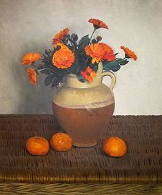 The Declensions of Citrus FruitsMarigolds and Tangerines, painted in oils in 1924 by Felix Vallotton. Source: National Gallery of Art; public domain via wikimedia commons