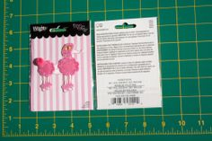 Poodle Pink Kids Embroidered Applique Sew Iron on Wrights Fabric 1937678001H | eBay