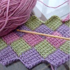 Learn the entrelac crochet stitch (video