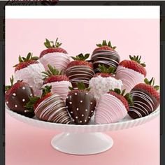 Dozen chocolate covered strawberries for baby girl shower