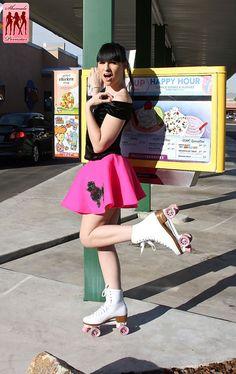 Bailey Jay on her roller skates
