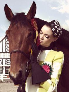 www.pegasebuzz.com/leblog   Horse in Fashion by Arnaud de Harven pour Victoire Magazine, avril 2013