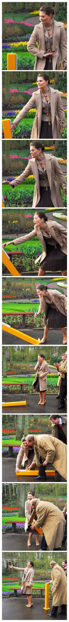 "Crown Princess Victoria of Sweden. Even a princess has her ""graceful"" moments."
