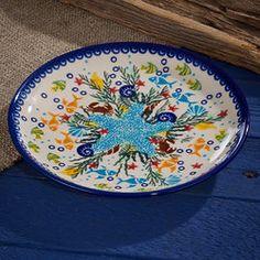 beachy-polish-pottery-coral-reef-dessert-plate