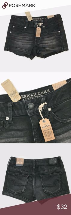 American Eagle NWT Shortie Fade to Black Shorts American Eagle NWT Shortie Fade to Black Denim Shorts Super super stretch Purposeful fading  Please let me know if you have any questions American Eagle Outfitters Shorts