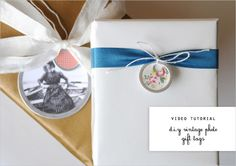 Nice Package: Vintage Photo Gift Tags with FreeDownload - Home - Creature Comforts - daily inspiration, style, diy projects + freebies