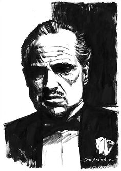 The Godfather #poster #art by Drumondart