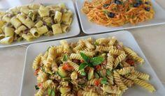 3 IDEE CON PASTA E TONNO:mezze maniche tonno e olive, spaghetti alla puttanesca di tonno, fusilli tricolore tonno e zucchine....