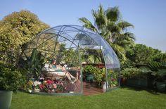 Garten-Iglu Pavillon Zelt mit Sommerdach & Wintergartenüberzug 3,60m: Amazon.de: Garten